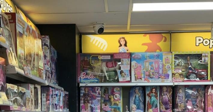 Beveiliging voor winkel