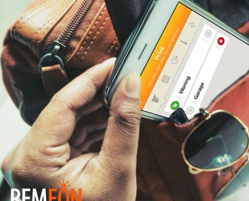 alarm bedienen met app