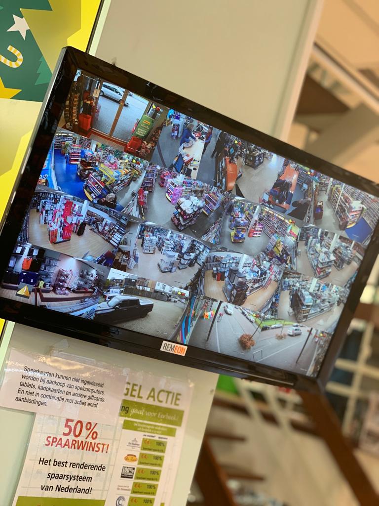 camerabeveiliging van REMEON in winkel